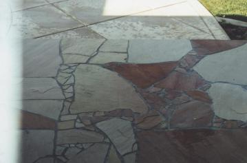 Flagstone entryway Cypress CA