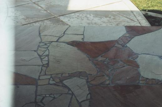 Flagstone entryway Cypress CA